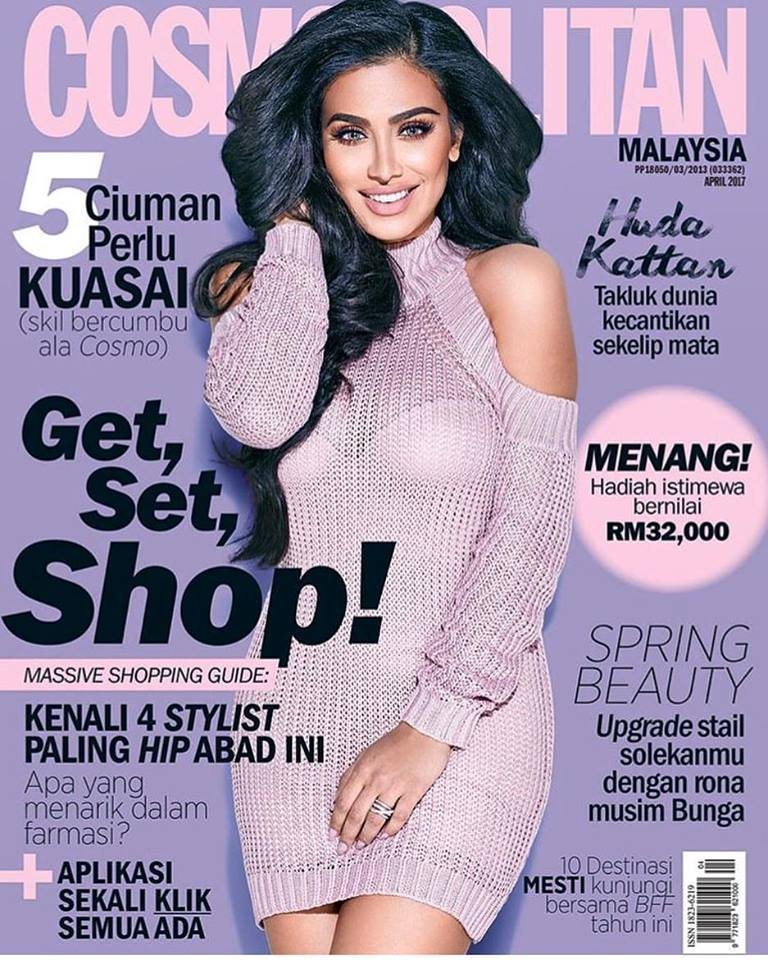 Huda on the cover of Cosmopolitan[7]