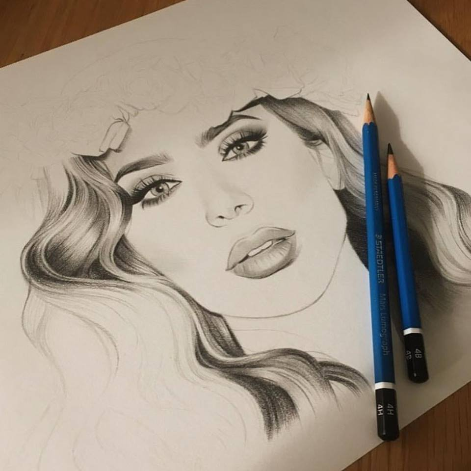 Fan made portrait of Huda[7]