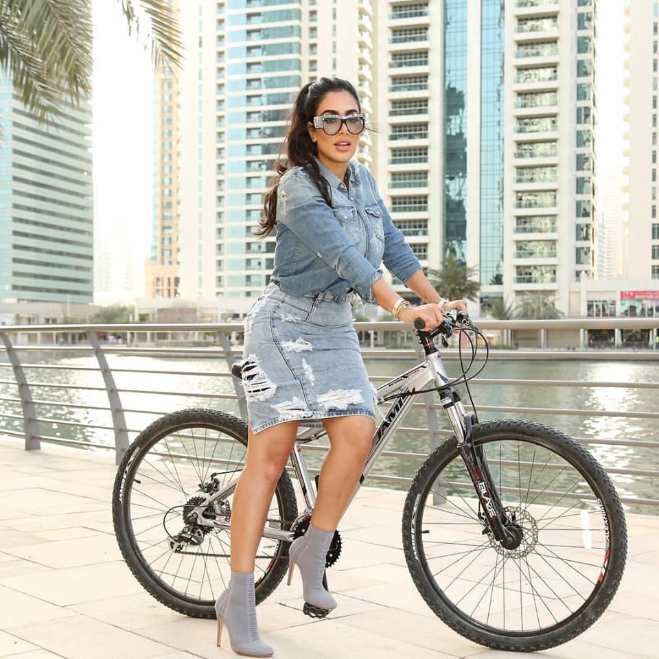 Photo of Huda on a bike[7]