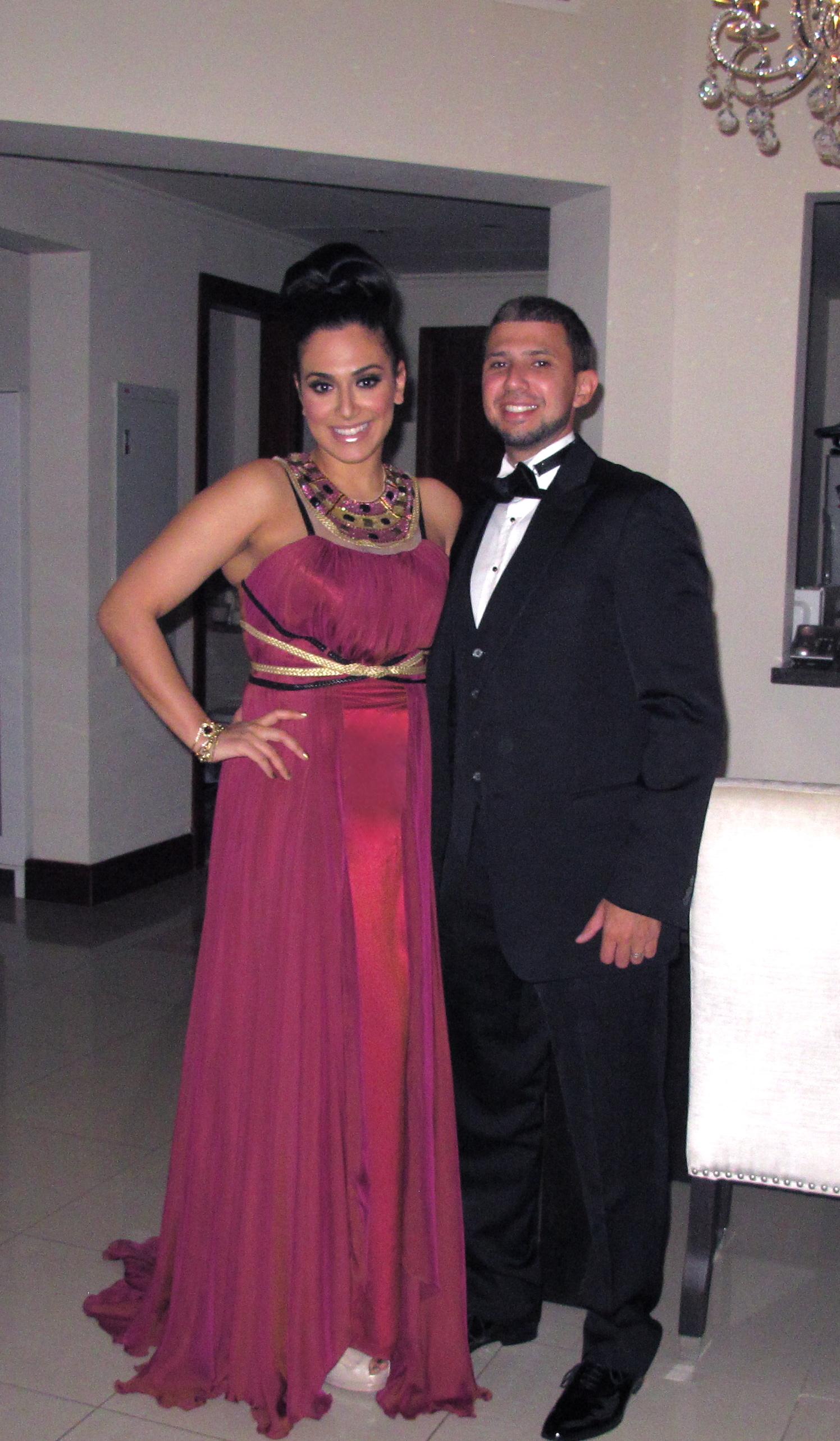 Photo of Huda and her husband Christopher[7]