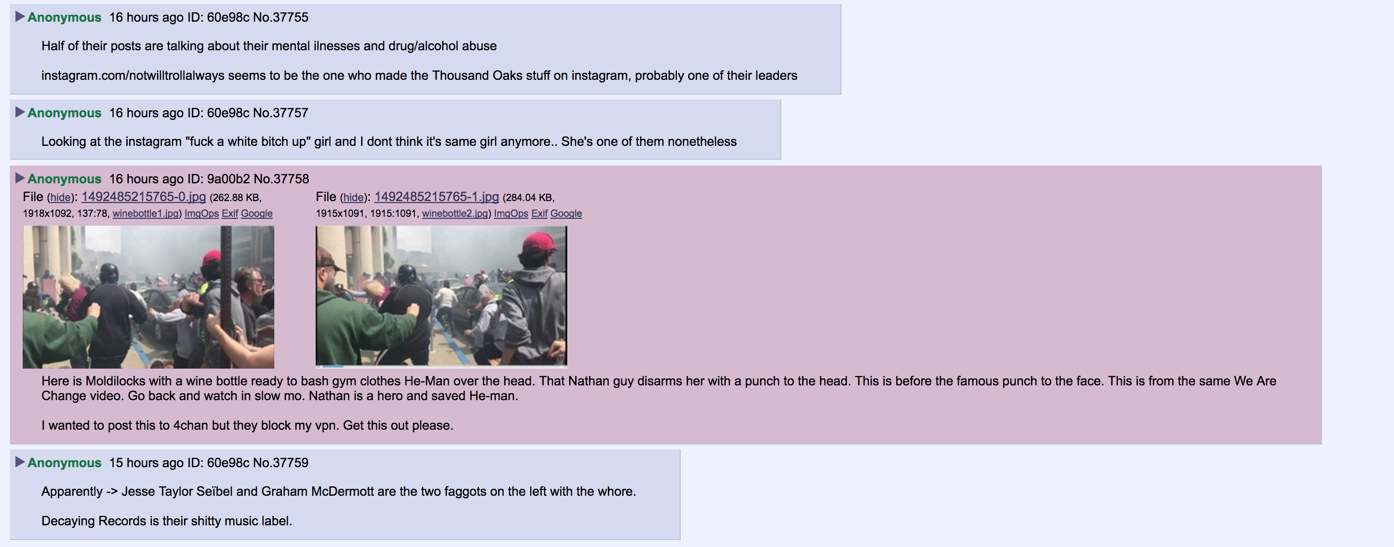A post from a 4chan Anon