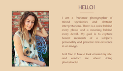 Information about Emily Rose Marshall from her photography site