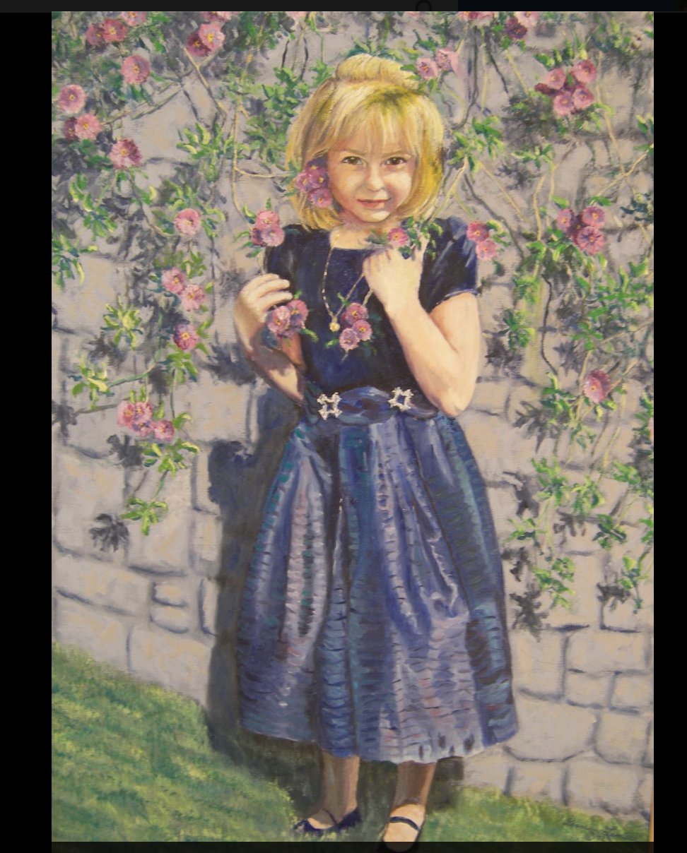 Portrait by her grandmother[40]