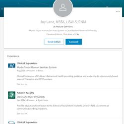 Screenshot of Joy'sLinkedInprofile