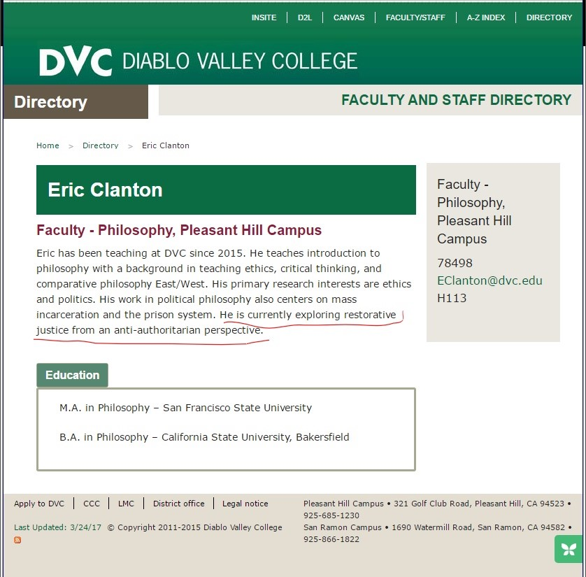 Bio at Diablo Valley College