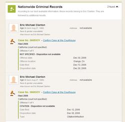 Criminal History of Eric Clanton