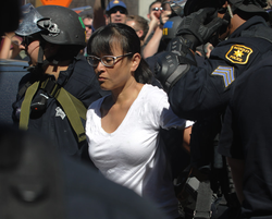 Yvette being arrested