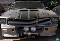 Another luxury car in the graveyard in Dubai