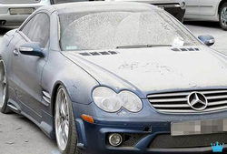 Another Mercedes in the Luxury Car Graveyard in Dubai