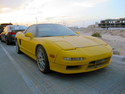 The abandoned Acura NSX before it was impounded by police