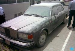 Another luxury car in the graveyard in Dubai, UAE