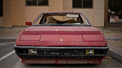 The Ferrari Mondial - before it was impounded by the police