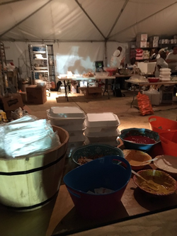 One of the kitchens at the Fyre Festival