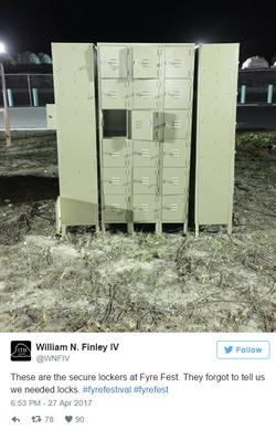 Tweet about lockers