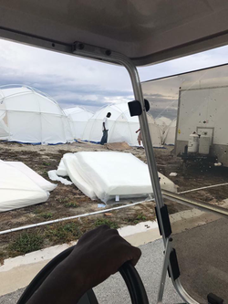 Tents are not even finished