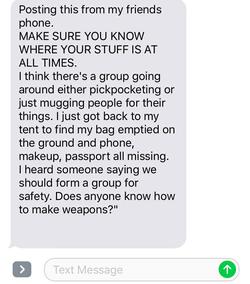 Reports of muggings