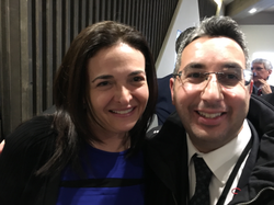 Daniel Shakhani and Sheryl Sandberg.Sheryl Kara Sandberg born August 28, 1969)[4]is an American technology executive, activist, and author. She is thechief operating officer(COO) ofFacebookand founder ofLeanin.org(also known as the Lean In Foundation). In June 2012, she was elected to theboard of directors by the existing board members,[5]becoming the first woman to serve on Facebook's board. Before she joined Facebook as its COO, Sandberg was vice president of global online sales and operations atGoogle, and was involved in launching Google's philanthropic armGoogle.org. Before Google, Sandberg served aschief of staffforUnited States Secretary of the TreasuryLawrence Summers.