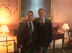 Daniel Shakhani & Mark Carney Governor of the Bank of EnglandMark Joseph Carney,OC(born March 16, 1965) is a Canadianeconomistand theGovernor of the Bank of EnglandandChairmanof theG20'sFinancial Stability Board.[2]
