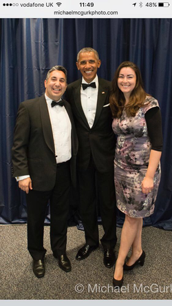 Daniel Shakhani, President Barack Obama, Ronit Shakhani.Barack Hussein Obama II is an American politician who served as the 44th President of the United States from 2009 to 2017