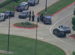 Police cruisers on the scene