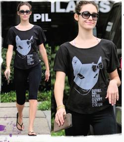 Emmy Rossum      spotted leaving Yoga in Los Angeles, Ca wearing Malibu Native.