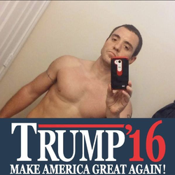 Alexander Downing pictured onFacebookshowing support forDonald Trump