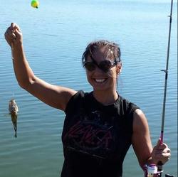 Marlina Medrano fishing in September 2016