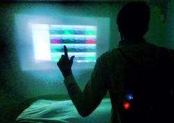 Goswami testing his Sixth Sense device