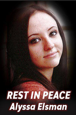 Poster in Alyssa Elman's memory