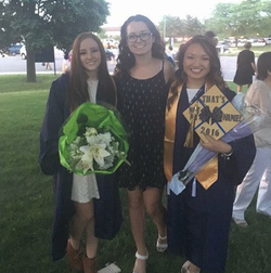 Photo of Alyssa taking graduation pictures[18]