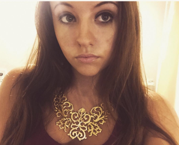 Photo of Alyssa with a necklace [18]