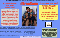 The collage of messages put together by the community as a way to support in the effort to release Rene.