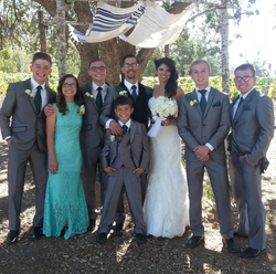 Photo of Gideon with his Family.