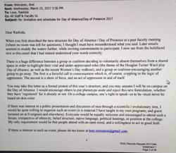 Weinstein's response email