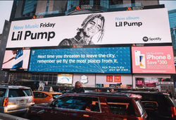 Billboard ad in New York (October 2017)