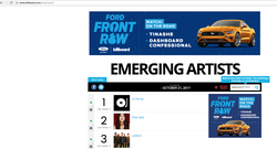 #1 on Billboard emerging artists chart