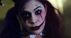 In Harley Quinn cosplay.