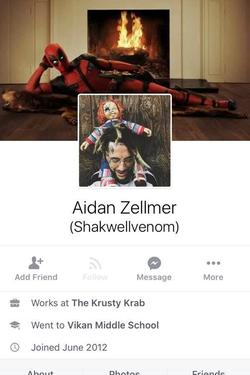 His Facebook intro