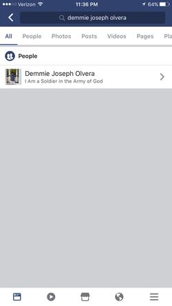Facebook description of Demmie (Aidan's father)