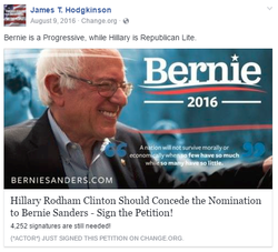 Hodgkinson was #NeverHillary