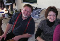 With his wifeSuzanne Hodgkinson