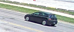Rear of suspect's vehicle