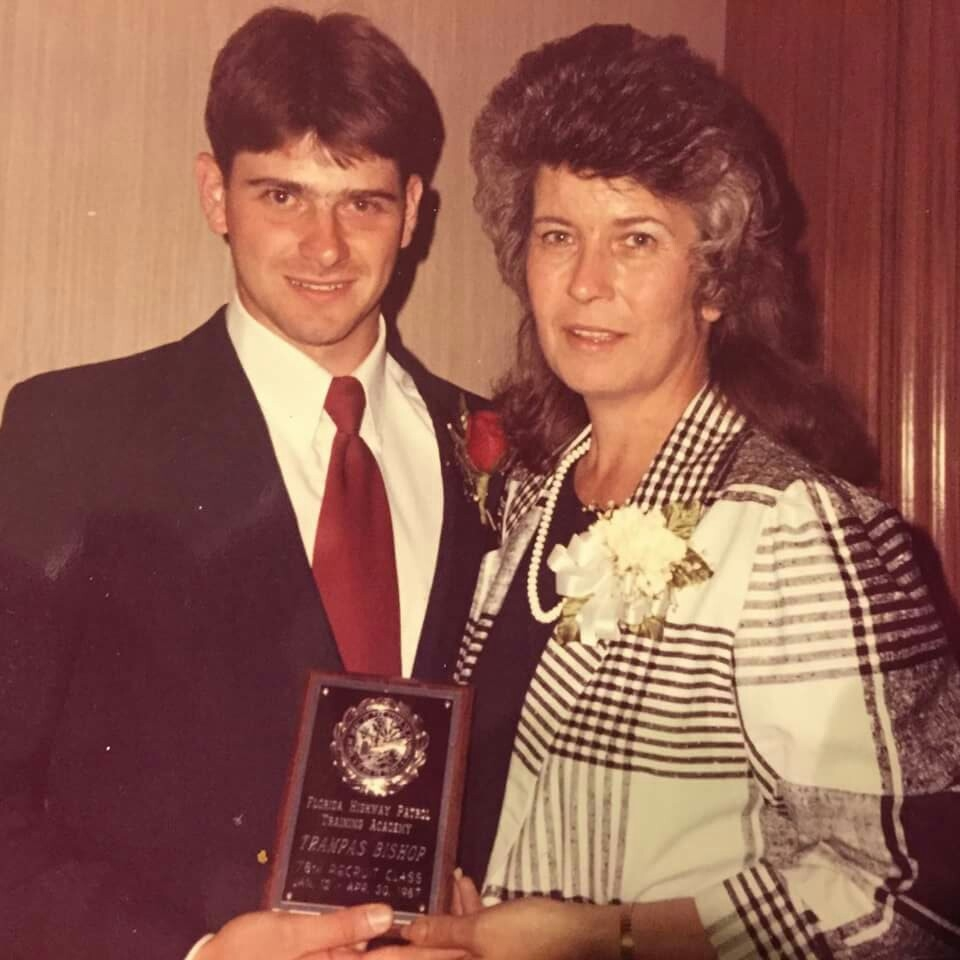 Photo of William Trampass Bishop with his mother[1]