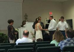 Photo of William Trampass Bishop and his Lisa Renee Bishop getting married[1]