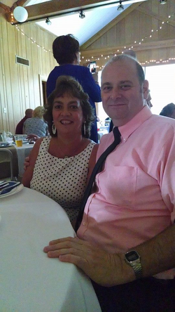 Photo of William Trampass Bishop and his wife Lisa at his niece's wedding[1]