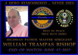 Poster in Master Sgt. Bishop's memory