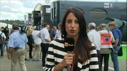 Giorgia Cardinaletti working as an anchor of RAI Sport