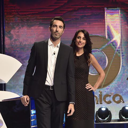 Giorgia Cardinaletti and Alessandro Antinelli, the two TV presenters of La Domenica Sportiva