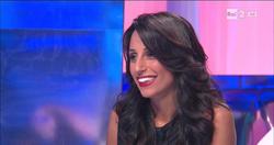 Giorgia Cardinaletti at a TV show on Rai 2