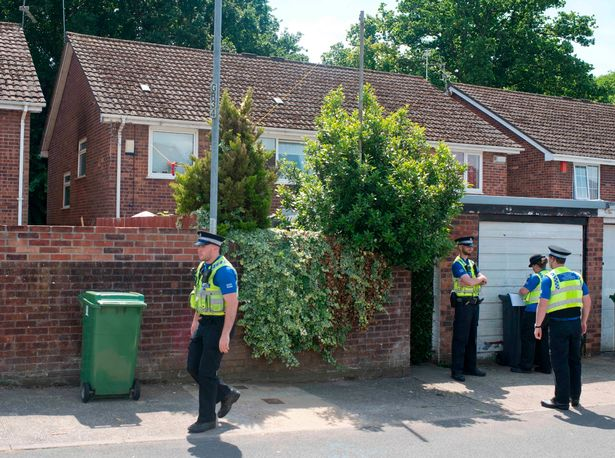 Darren's home in Cardiff surrounded by police
